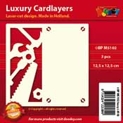 BPM5102 Luxe oplegkaart 13,5 x 13,5 cm gereedschap