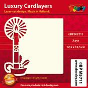 BPM5711 Luxe oplegkaart 12,5 x 12,5 cm