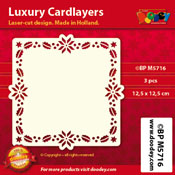 BPM5716 Luxe oplegkaart 12,5 x 12,5 cm