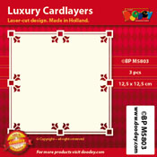BPM5803 Luxe oplegkaart 12,5 x 12,5 cm