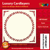 BPM5807 Luxe oplegkaart 12,5 x 12,5 cm