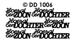DD1006 Peel-Off Sticker Hoera Zoon/ Dochter