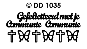 DD1035 Peel-Off Sticker Gefeliciteerd, Communie