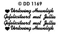 DD1169 Peel-Off Sticker Huwelijk/ Verloving