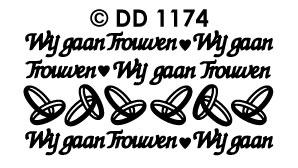 DD1174 Peel-Off Sticker Wij gaan trouwen