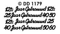 DD1179 Peel-Off Sticker ...Jaar Getrouwd