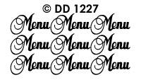 DD1227 Menu (Sierlijk)