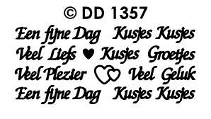 DD1357 Veel plezier een fijne dag kusjes