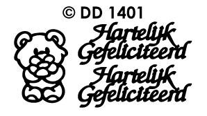 DD1401 Hartelijk Gefeliciteerd