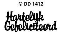 DD1412 Hartelijk Gefeliciteerd (Klein)