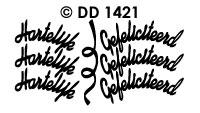 DD1421 Hartelijk Gefeliciteerd (Draaikaart)