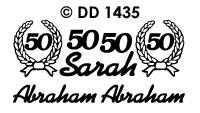 DD1435 Sarah/ 50/ Abraham