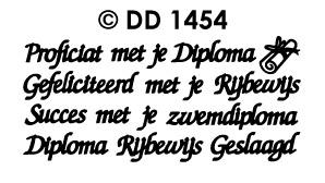 DD1454 Diploma Rijbewijs zwemdiploma geslaagd