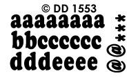 DD1553 Alfabet ABC (Klein)