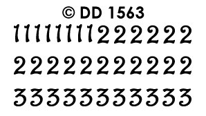 DD1563 Numbers 123 curled