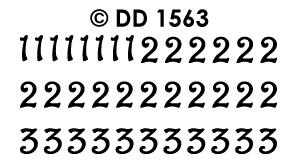 DD1563 Cijfers 123 krul