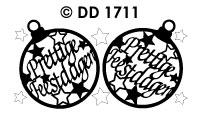 DD1711 Kerstbal/ Prettige Feestdagen