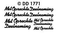 DD1771 Met Oprechte Deelneming
