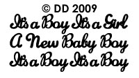 DD2009 A New Baby Boy/ Girl