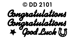 DD2101 Peel-Off Sticker Congratulations / Good Luck