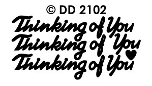 DD2102 Peel-Off Sticker Thinking of You
