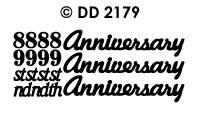 DD2179 Anniversary/ Numbers