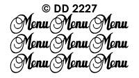 DD2227 Menu (DD 1227)