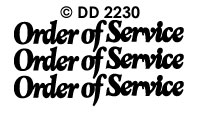 DD2230 Order of Service (L)