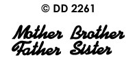 DD2261 Mother/ Father/ Brother/ Sister