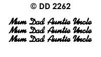 DD2262 Mum/ Dad/ Auntie/ Uncle