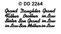 DD2264 In Law/ Grand Son/ Daughter/ Mother