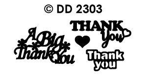 DD2303 Peel-Off Sticker Thank You, Various