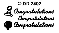 DD2402 Congratulations