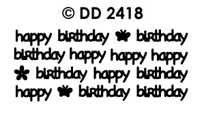 DD2418 Happy Birthday Modern (XS)