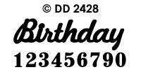 DD2428 Birthday/ Nummers