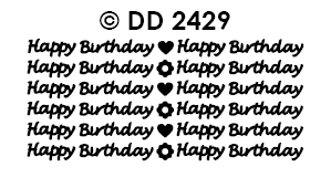 DD2429 Happy Birthday (small)(B101)