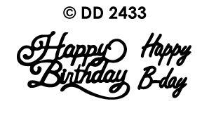 DD2433 Doodey Sticker Happy Birthday- Happy B-Day