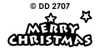 DD2707 Merry Christmas (Shape)