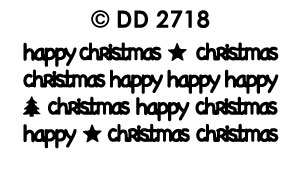 DD2718 Happy Christmas modern (XS)
