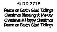 DD2719 Christmas Text diverse (XS)