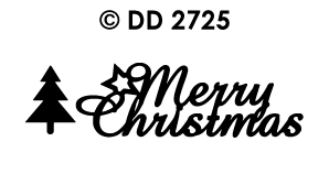 DD2725 Peel-Off Sticker Merry Christmas