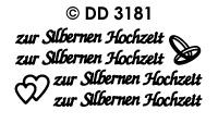 DD3181 zur Silbernen Hochzeit