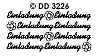DD3226 Einladung