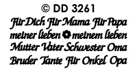 DD3261 Fur Dich Mama Papa Oma Opa Mix