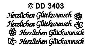 DD3403 Herzlichen Gluckwunsch