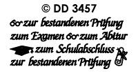 DD3457 zur bestanden Prufung Examen mix