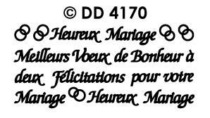 DD4170 Heureux Mariage Meilleurs voeux de bonheur a deux