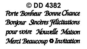 DD4382 Bonne chance Bonjour Merci pour toi etc