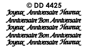 DD4425 Joyeux Anniversaire Bon Anniversaire