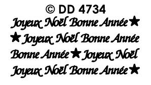 DD4734 Joyeux Noel Bonne Annee